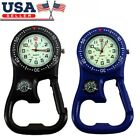 Clip-On Carabiner Luminous Sport Backpacker FOB Watch With Compass Bottle Opener image