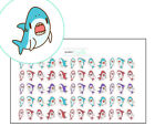 Shark Week Planner Stickers, Discrete Period Tracker, Kawaii Stickers, Menstrual