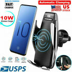 QI Wireless Charger Car Touch Sensing Automatic Retractable Clip Fast Charging