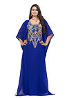 USA SELLER Women's Dubai Kaftan Farasha Caftan Long Maxi Dress Abaya Jalabiya