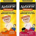Airborne Chewable Tablet 32/64 ct - 1000mg Vitamin C - Immune Support Supplement $17.89 USD on eBay