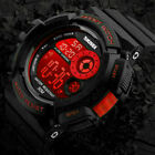 Men's Military Army Digital Quartz Wrist Watch LED Date Alarm Waterproof Sports image