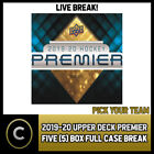 2019-20 UPPER DECK PREMIER HOCKEY 5 BOX (FULL CASE) BREAK #H691 - PICK YOUR TEAM $31.0 CAD on eBay