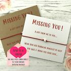Missing You Inspirational Wish String Charm Card Kabbalah Friendship Bracelet