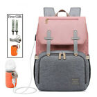 Kyпить Diaper Bag Mummy Backpack Baby Stroller USB Charging Waterproof Nursing Nappy US на еВаy.соm