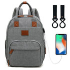 Diaper Bag Mummy Backpack Baby Stroller Usb Charging Waterproof Nursing Nappy Us