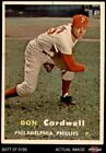 1957 Topps #374 Don Cardwell Phillies 5 - EX