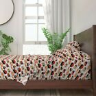 Cat Kitty Kawaii Food Animals Persian 100% Cotton Sateen Sheet Set by Roostery