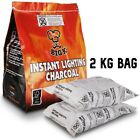 Instant Lighting Charcoal For BBQ Grill Open Fire Outdoor Cooking Barbecue Big-K