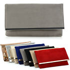 Womens Clutch Bag Envelope Ladies Evening Prom Shoulder Party Purse Handbag UK