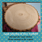 Natural Wood Log Slice Tree Bark Wedding Table Centerpiece Cake Stand Back NOW!