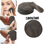 5Pcs Reusable Portable Bamboo Makeup Removal Pads Facial Washable Pad Cleansing