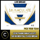 2018 PANINI IMMACULATE FOOTBALL 6 BOX (FULL CASE) BREAK #F458 - PICK YOUR TEAM $156.0 CAD on eBay