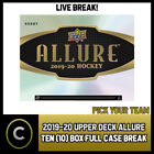 2019-20 UPPER DECK ALLURE HOCKEY 10 BOX (FULL CASE) BREAK #H728 - PICK YOUR TEAM $44.0 CAD on eBay