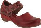 Women's L'Artiste by Spring Step Gloss-Pansy Two-Piece Closed Toe Sandal Red Lea
