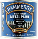 Hammerite SMOOTH FINISH Direct To Rust Metal Paint 250ml Tin - Various Colours