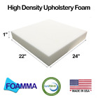"""1""""-7""""x22""""x24"""" Upholstery Foam,high Density,chair Square Cushion,seat Replacement"""