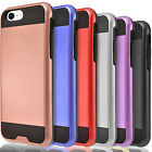 Kyпить For iPhone SE 2020 Case, Dual Layer Hybrid Shockproof + Tempered Glass Protector на еВаy.соm