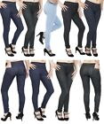 Womens Mid Waisted Jeans Style Jeggings, No See Through, Ladies Skinny Fit Pants