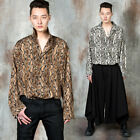 NewStylish Men Snake pattern loose fit silky shirts
