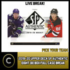 2019-20 UPPER DECK SP AUTHENTIC 8 BOX (FULL CASE) BREAK #H758 - PICK YOUR TEAM $29.0 CAD on eBay