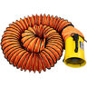 More images of Portable Ventilation Fan 8 with 10m PVC Ducting Utility Blower 1020-1500M-� / H