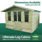 ULTIMATE LOG CABIN SUMMER HOUSE OFFICE BAR SHED TOP QUALITY GRADED WOODEN TIMBER