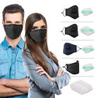 Washable Pm2.5 Face Mouth Cover Anti Dust Air Pollution With Respirator &filters