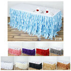 Enchanting Curly Willow Taffeta Table Skirt Wedding Decoration Table Covers 21ft $73.69 USD on eBay