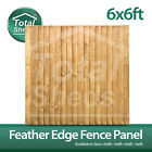 ***PACK OF 5***  6ft x 6ft FEATHEREDGE CLOSEBOARD PANELS