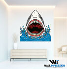 Great White Shark Bite Wall Sticker Children Bedroom Living Room Lounge Decal