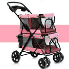 Pet Stroller 4 Wheel Folding Cat Dog Breathable Carrier Travel Camping Portable