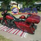 Advanblack Wicked Red Razor Tour Pack Pak Trunk Fits Harley Touring 1997+
