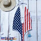 1-Piece US Flag Fourth of July Print Women Bathing Suit Beach and Pool Swimwear