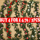 2x 8ft Artificial Faux Flower Silk Rose Leaf Garland Vine Ivy Home Party Decor C