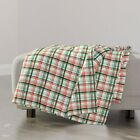Throw Blanket Plaid Christmas Plaid Watercolor Plaid Christmas 48 x 70in