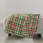 Throw Blanket Christmas Plaid Christmas Pattern Red White Green 48 x 70in