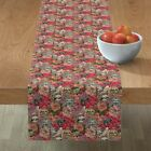 Table Runner Sloth Floral Pink Flowers Animal Cute Unique Fashion Cotton Sateen