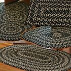 Kyпить Black Gray Cotton Area Braided Rug Kendrick by Park Designs Various Shapes на еВаy.соm