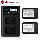 NP-FW50 Battery For Sony Alpha A6000 A6300 A6500 A7r A7 & LCD Dual USB Charger