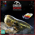 Crocox Sport Polarized Sunglasses Cycling Fishing Running Golf Driving Mens UV
