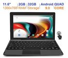 """RCA 11.6"""" 2 in1 2GB RAM 32GB Quad Core IPS 1366 x 768 Touch Screen Android 9.0"""