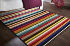 SPECTRUM TANGO STRIPED QUALITY HANDCARVED SMALL LARGE MULTI COLOURS RUG & RUNNER