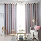 2 Layer Stars Window Curtain Blackout & Tulle Drapes Living Room Bedroom Decor