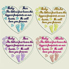 Memory Heart Memorial Embroidered Baby Patch The littliest feet Any Name Colour