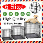 Heavy-Duty Folding Strong Steel Pet Dog Puppy Cage Crate Carrier Puppy House Big