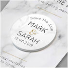 PERSONALISED Gold Marble Wedding Save The Date Cards Fridge Magnets Invitations