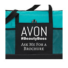 Avon #beautyboss Tote bag purse black pink red teal Representative advertising