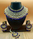 Bollywood style Trendy Ethnic Indian Traditional Kundan Bridal necklace Jewelry