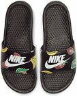 NIKE BENASSI WOMENS JUST DO IT JDI FRUIT SLIDES SANDALS BLACK SIZE 7